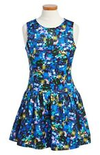 NEW Milly Minis Jewel Print Dress size 2Y Girls Blue Black Multicolor Toddler