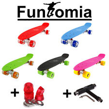 Mini-Board FunTomia® (LED) Skateboard Cruiser board ABEC-11 Tasche+T-Tool+Gummi