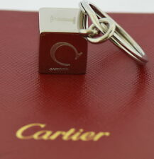 Cartier Stainless Steel Cube Key Ring