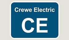 1x Crewe Electric Train Depot Sticker/Decal 100 x 77mm
