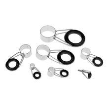 7Pcs/set Fishing Rod Pole Guides Tips Top Eye Rings Repair Kit DIY, 7 Sizes
