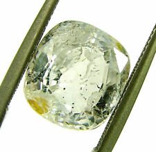 4.90 Ct Certified Natural Ceylon White Sapphire Loose Untreated Stone - 19629