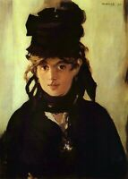 Berthe Morisot by Edouard Manet Giclee Fine Art Print Reproduction on Canvas