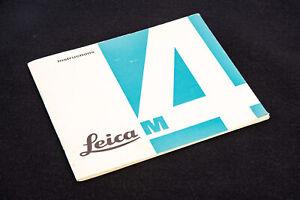 Genuine 1960s Leica M4 Rangefinder Camera Owners Instruction Manual V11