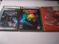 Bioshock 1 2 3 Infinite Complete Trilogy Xbox 360 Set Bundle Lot Very Good Cond