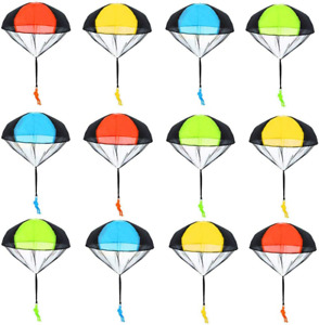 Minelife 12 Pack Parachute Toys, Tangle Free Throwing Parachute Toy Parachute