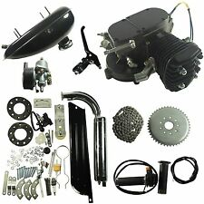 Black 80cc Bike 2 Stroke Gas Engine Motor Kit DIY Motorized Bicycle
