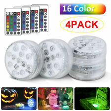 More details for 4x hot tub underwater floating bath lights colorful led rgb lazy spa disco lamp