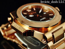 Invicta Men's 58mm AKULA PRESTIGE Automatic NH35A BROWN DIAL Rose Tone SS Watch