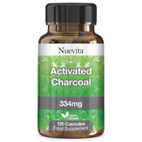 Activated Charcoal Capsules 334mg x 120  Coconut Derived Detox Cleanser