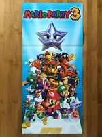 Official Mario Party 3 N64 2001 Nintendo Power Poster Authentic Game Promo RARE!