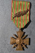 2) Médaille croix de guerre 1914 1917 avec sa palme poilu FRENCH medal