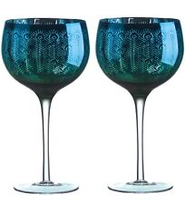 Set of 2 Peacock Gin Glasses by Artland 700ml