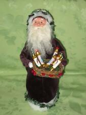 Byers Choice ~ Santa in Purple Robe with basket ~ holly trimmed ~ 2009