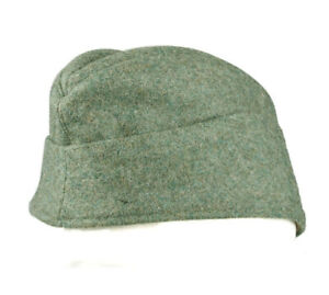 WWII WW2 GERMAN EM ENLISTED MAN PANZER WOOL GARRISON CAP GERMAN CAP HAT SIZE L