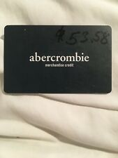 $53.58 Abercrombie Gift Card