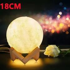 Dimmable 3D Magical Moon Lamp USB LED Night Light Moonlight Touch Sensor Lamp