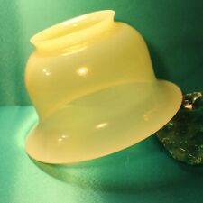 "Large Vintage OPALINE Glass SHADE for Pendant Light or Lamp Lemon Custard 8"" Dia"