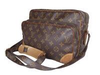 LOUIS VUITTON Vintage Nile Monogram Canvas Crossbody Shoulder Bag LS2965