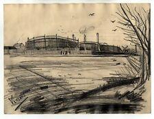 Vincent van Gogh - Pencil Drawing - Landscape
