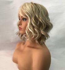 Wig Medium Short Wavy Multi Colormix Light Synthetic NWT! Anna Emma