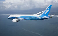 """BOEING 787 FLYING A4 POSTER GLOSS PRINT LAMINATED 11.7""""x7.3"""""""