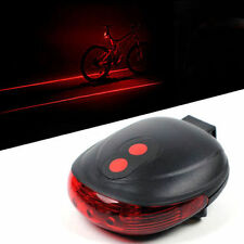 2 Laser+ 5 LED Rear Cycling Bike Bicycle Tail Light Beam Safety Warning Red Lamp