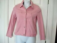 Tribal Womans sz 4 Jacket COAT STRETCH PINK SILVER BUTTONS POCKETS C ALL JACKETS