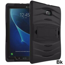 "For Samsung Galaxy Tab E 9.6"" SM-T560 Shockproof Armor Hybrid Hard Case Cover BK"