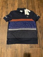NWT $110 ~ LACOSTE Sport Mens Novak Djokovic Ultra Dry Polo Shirt - Large