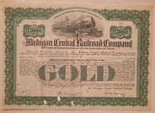1938 Michigan Central Railroad Company Bond Stock Certificate