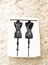 Black Mannequin Fashion Dress Form Home Vanity Boutique Wall Door Decal Sticker
