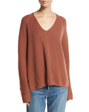 Vince | Cashmere Deep V-Neck Pullover Sweater Cinnamon Size Large L S2 $345