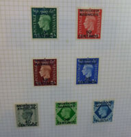 BRITISH COMMONWEALTH MOROCCO AGENCIES GEO. VI SPANISH CURRENCY 7 STAMPS 1937-52