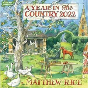 MATTHEW RICE 2022 - Year In The Country Wall Calendar - 30 x 30 xm