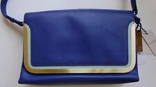 New with Tags Stunning Botkier Ocean Leather Color Block Organizer Handbag