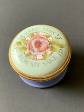 "Halcyon Days - Screw Top - Enameled Box - "" Keep This For My Sake """
