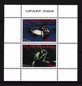 [SU1280] Suriname Surinam 2004 UPAEP Birds Duck Parrot Souvenir Sheet MNH