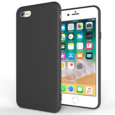 Ultra-Thin Matte Black TPU Silicone Case Slim-Line Cover For All Apple iPhone