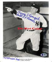 Casey Stengel Yankees autographed 8x10 photo RP
