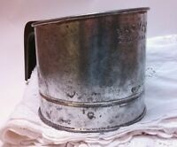 Vintage FLOUR SIFTER Bromwell's Bromco Antique Utensils Home Country Decor