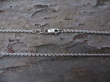 """10 KT White Gold Wheat Link Chain Necklace 1.70 mm Width 16"""" in Length.......NEW"""