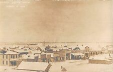 Lahoma Oklahoma panoramic view of city covered in snow real photo pc (Y2878)