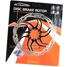 ALLIGATOR MOTION Stainless Disc Brake Rotor,180mm , Black