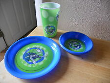 DR SUESS CHILDRENS DINING SET SET OF 3 yertle turtle tertle NEW