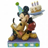 Disney Traditions Figurine - Happy Birthday Pal! (Pluto and Mickey) *BRAND NEW