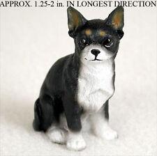 Chihuahua Mini Resin Dog Figurine Statue Hand Painted Black