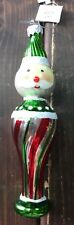 New Hand Blown Glass Christmas Tree Ornaments Santa Clause Green Funky