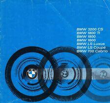 BMW 3200 CS 1800 1600 LS 700 Cabrio Motorrad R27 R50 Prospekt Brochure /82