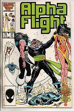 Marvel Comics Alpha Flight #37 August 1986 VF